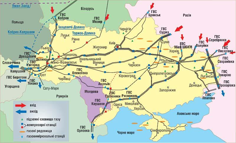 ГТСУ карта