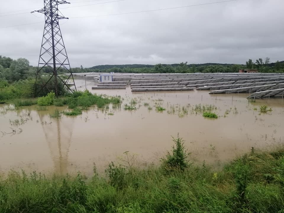 подтепленная СЭС в Ивано-Франковской области