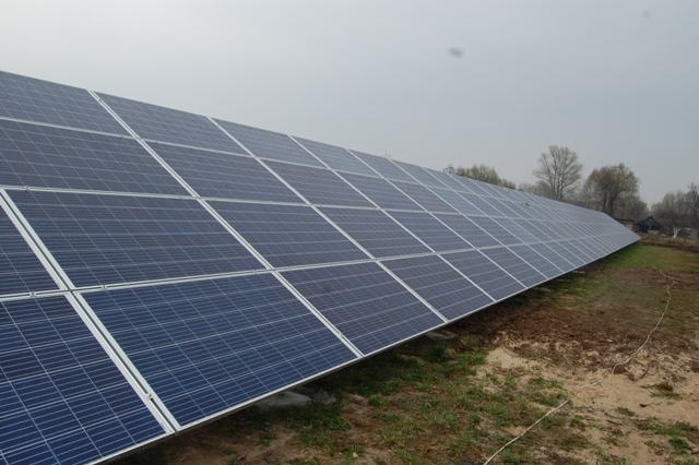 В Черниговской области строят наземную СЭС мощностью 1,2 МВт