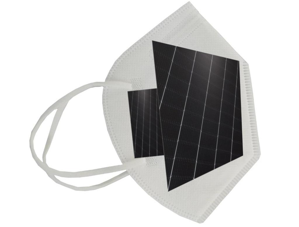 Берлинец создал защитную маску с солнечными элементами
