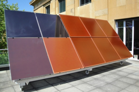 Italy began to produce colored solar panels