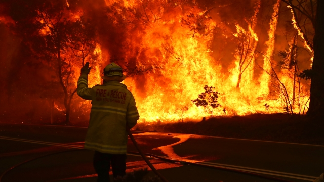 Fires in Australia impact roof solar stations