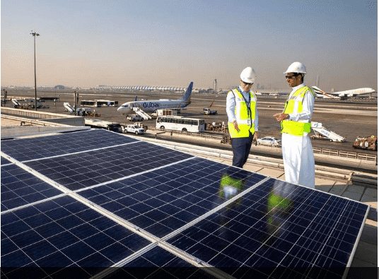 Solar power plant with a capacity of 5 MW has been installed at Dubai airport