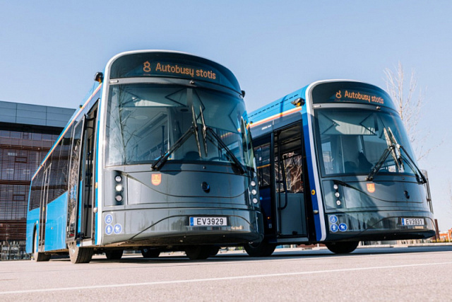 Lithuania launched electric buses that are made from plastic bottles