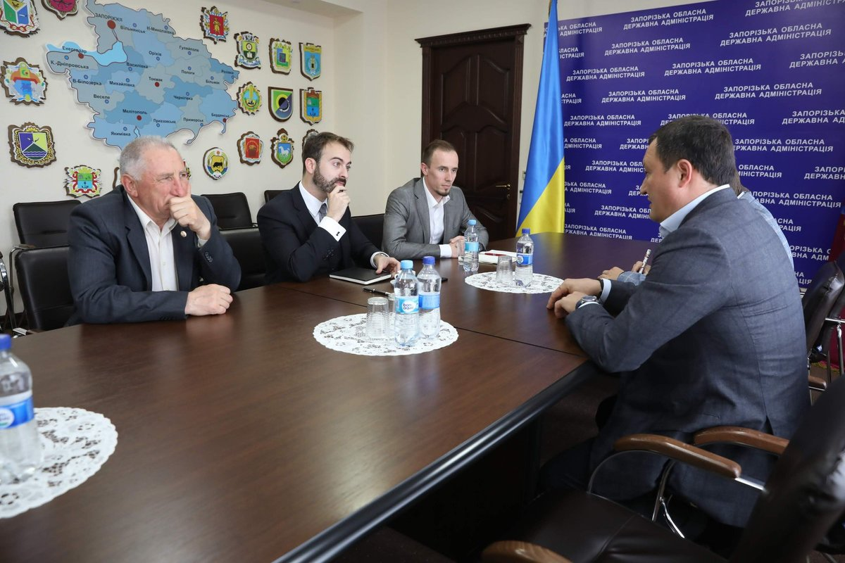 The construction of the first phase of wind farm in the area was discussed in Zaporizhzhia Regional State Administration