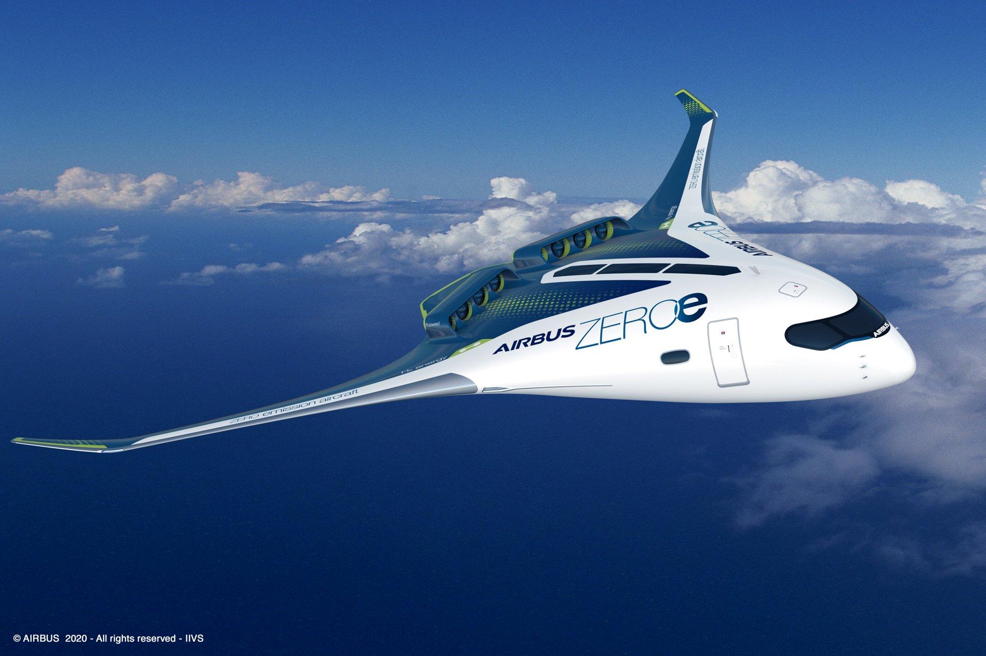 Airbus представив варіанти водневих пасажирських літаків