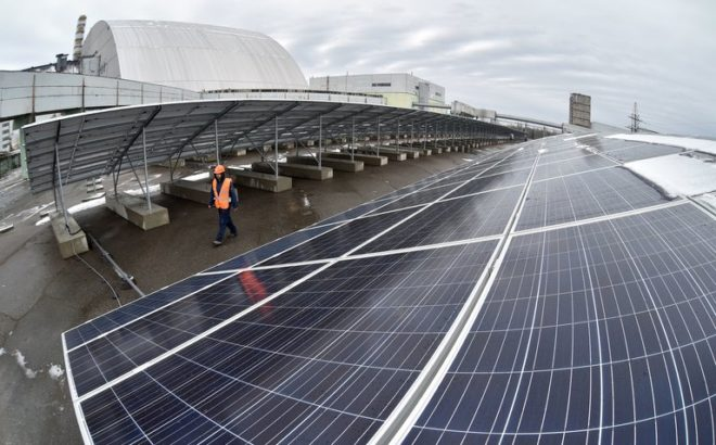 A capacity of the first solar power plant in Chernobyl is planned to be increased to 100 MW