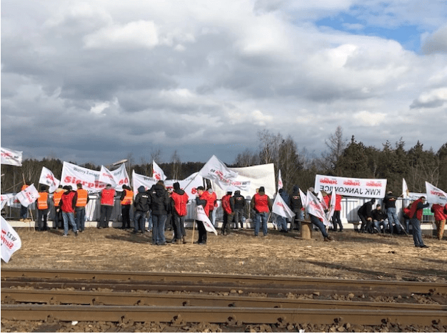 Polish miners protest against coal imports from Russia