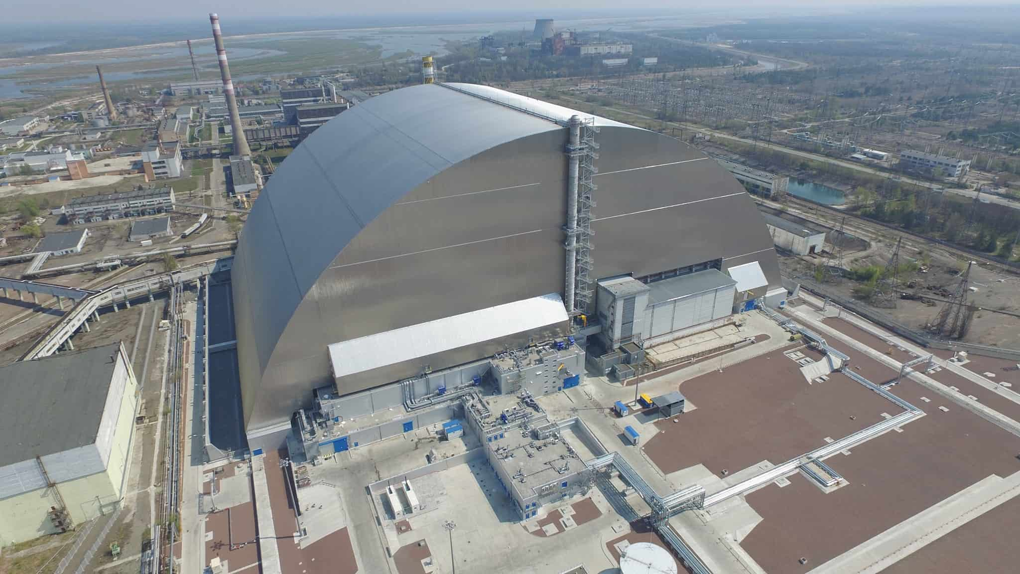 The arch over the fourth power unit of the Chernobyl NPP was commissioned