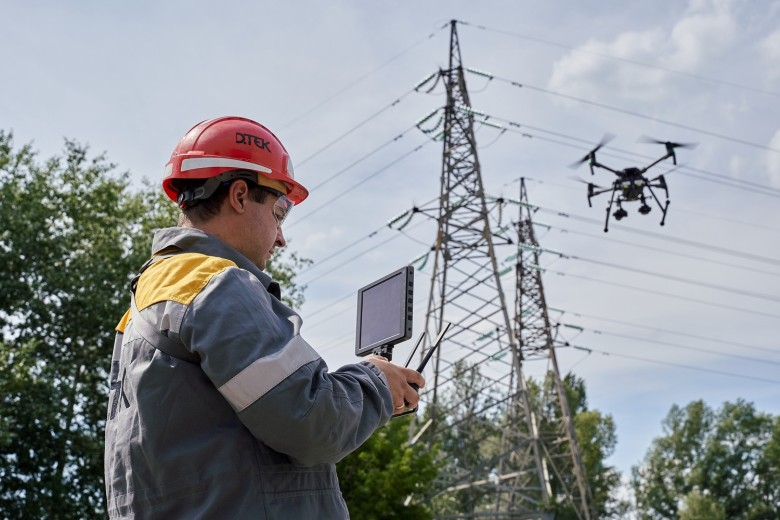 A drone examined almost 400 km of power lines in Dnipropetrovsk region