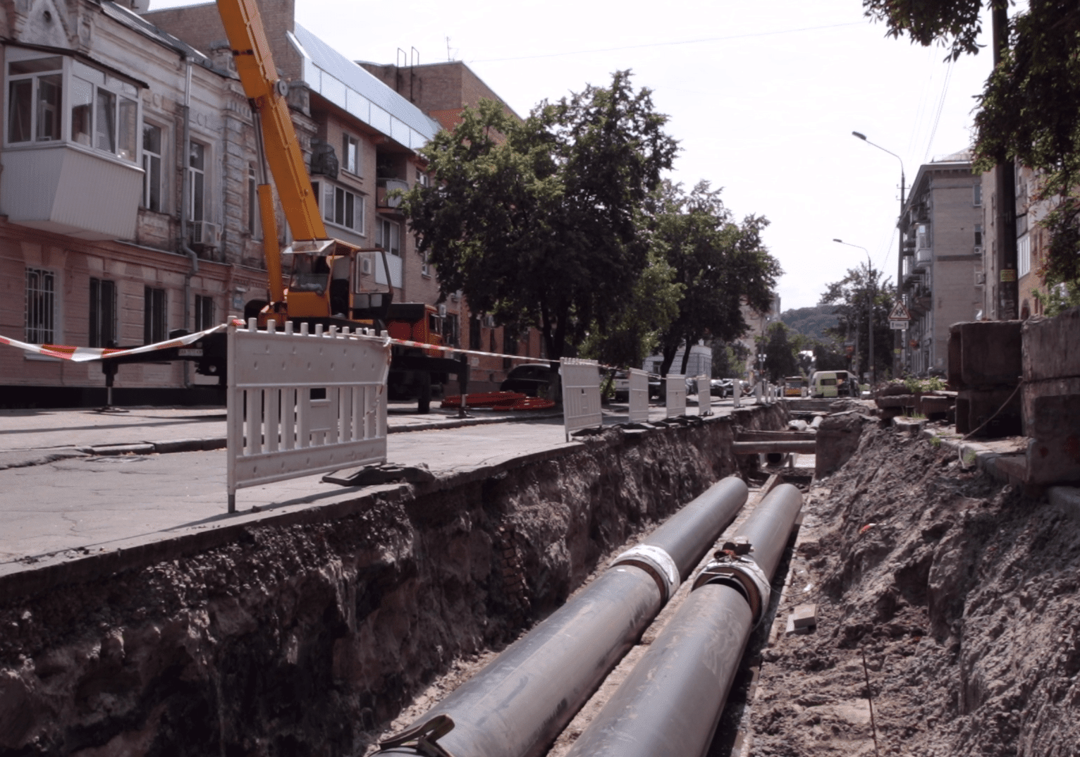 Reconstruction of heating networks began on Podil