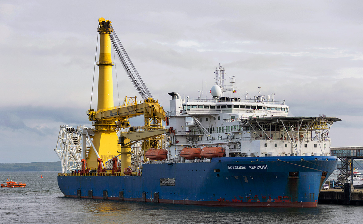 Akademik Cherskiy joined the construction of Nord Stream 2
