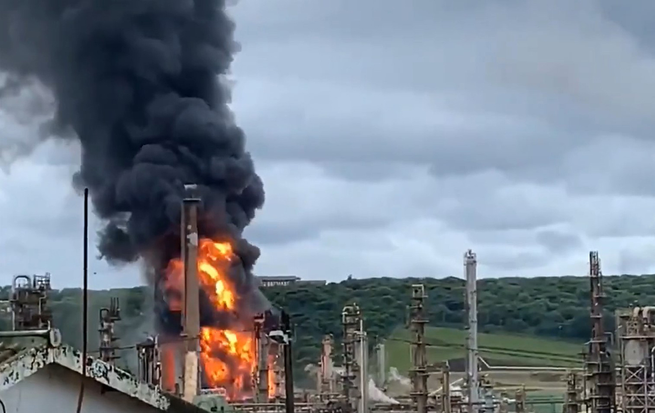 An explosion occurred at an oil refinery in the Republic of South Africa