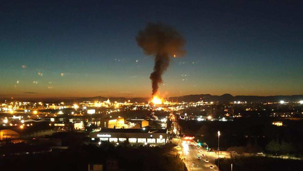 There was an explosion at a petrochemical plant in Spain