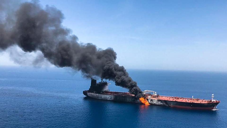 Two oil tankers were attacked in the Gulf of Oman – oil prices spiked 4%