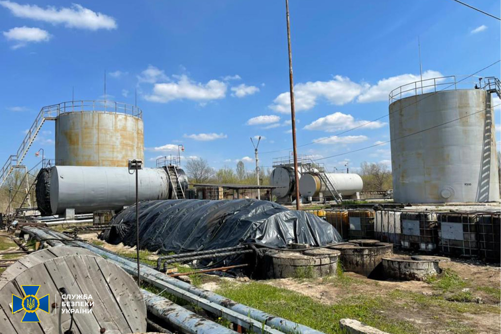 СБУ разоблачила нелегальный нефтеперерабатывающий завод на Днепропетровщине